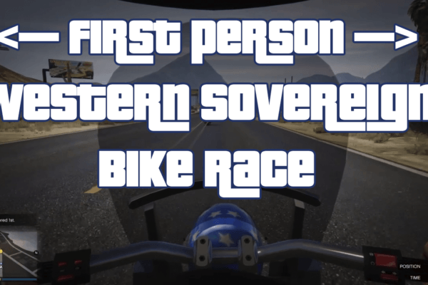 First Person Using Western Sovereign Bike -Your the Lake Race