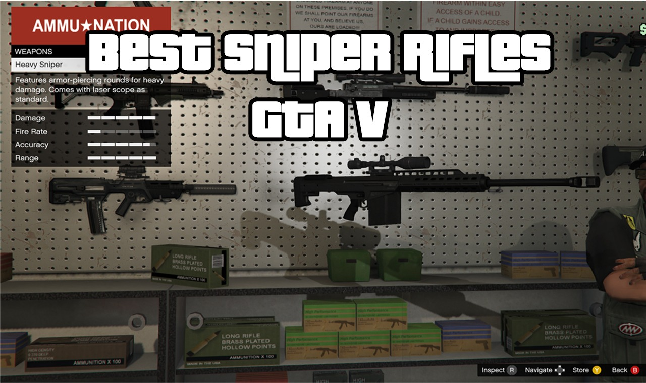 The Top GTA V Best Sniper Rifle Weapons for Online - Newb Gaming