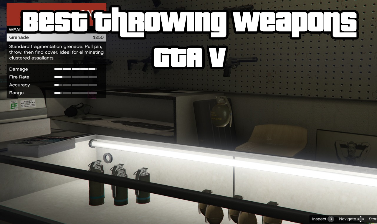 Best Throwing Weapons GTA V