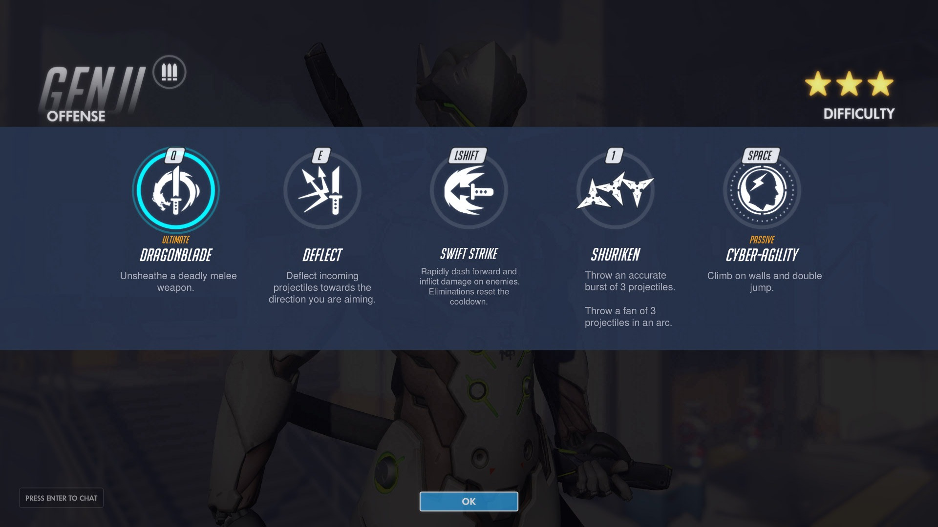 GENJI Offense Abilities Overwatch