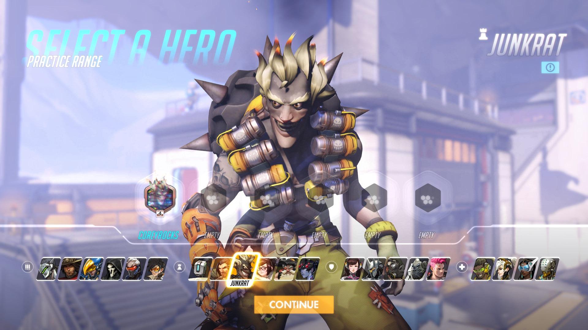 Junkrat Overwatch Hero