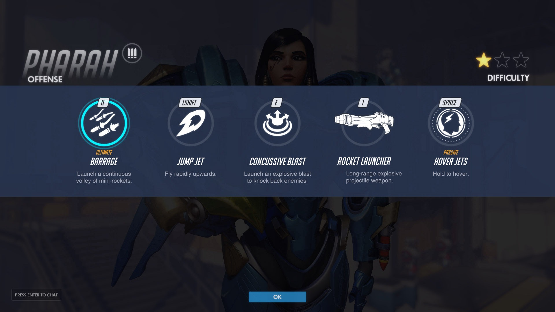 Pharah Offense Abilities Overwatch