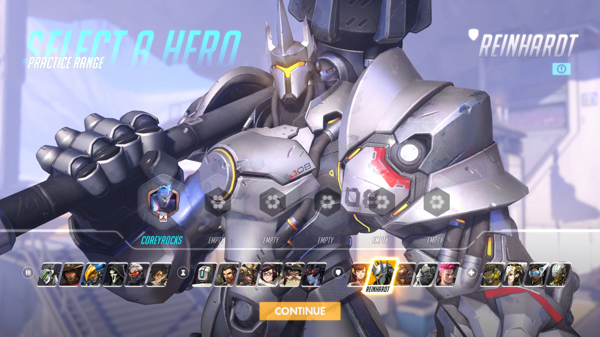 Reinhardt Overwatch Hero