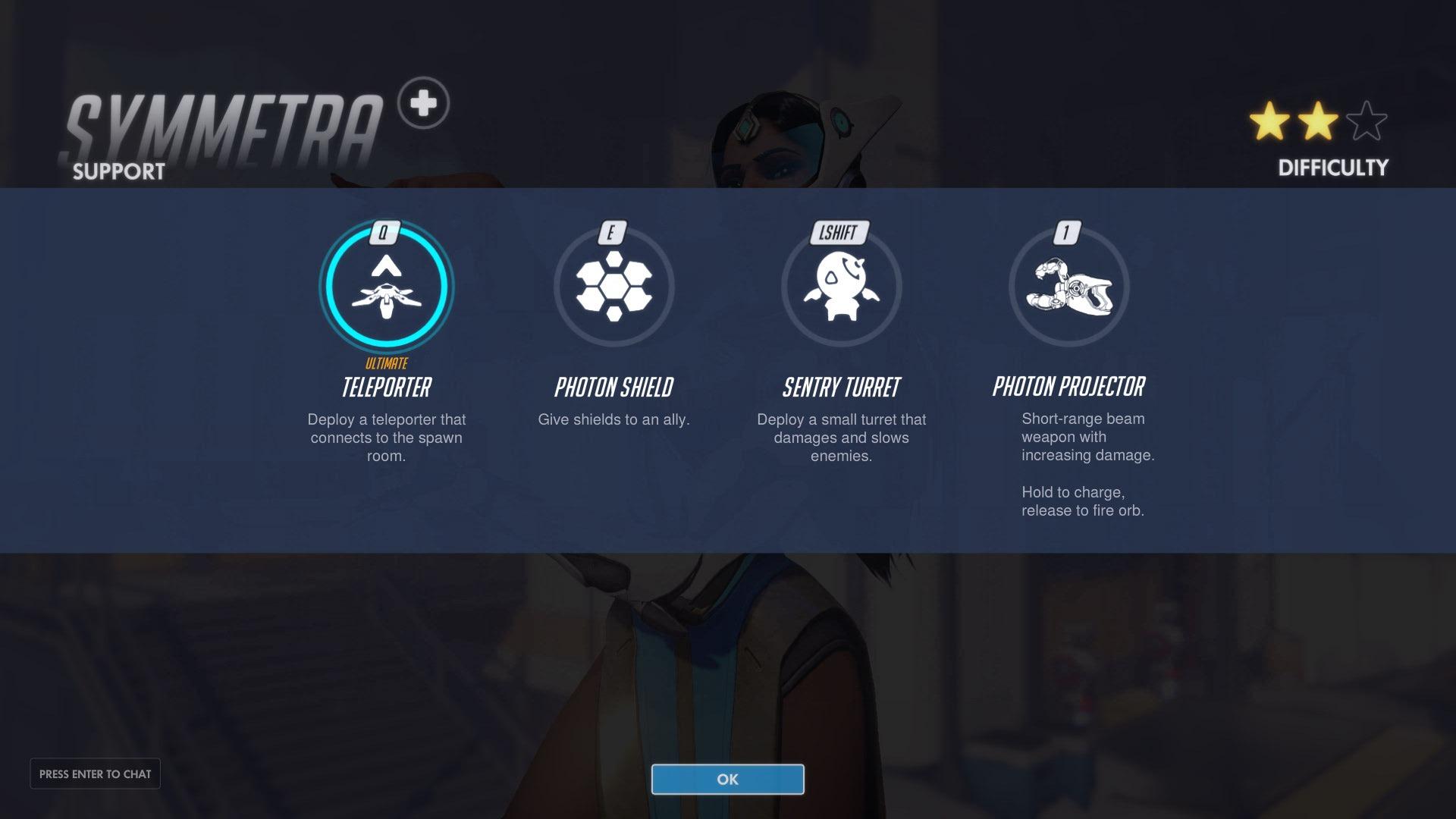 Symmetra Support Abilities Overwatch