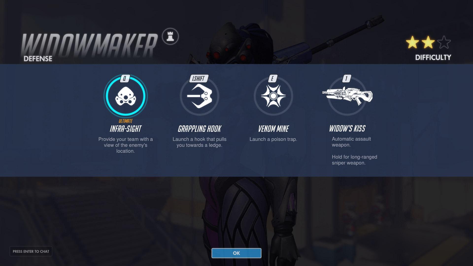 Widowmaker Defence Abilities Overwatch