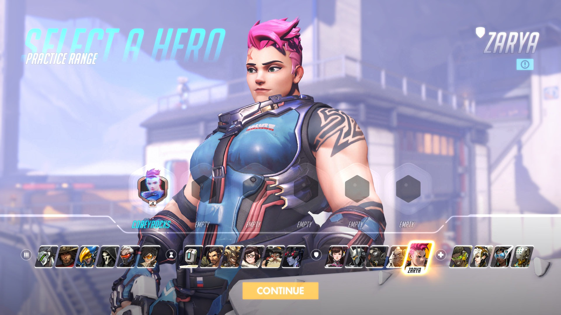 Zarya Overwatch Hero